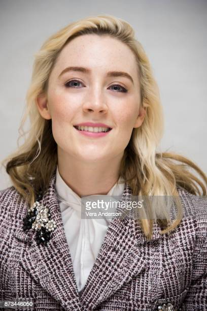 Saoirse Ronan at the 'Lady Bird' Press Conference at the Four Seasons Hotel on November 9 2017 in Beverly Hills California