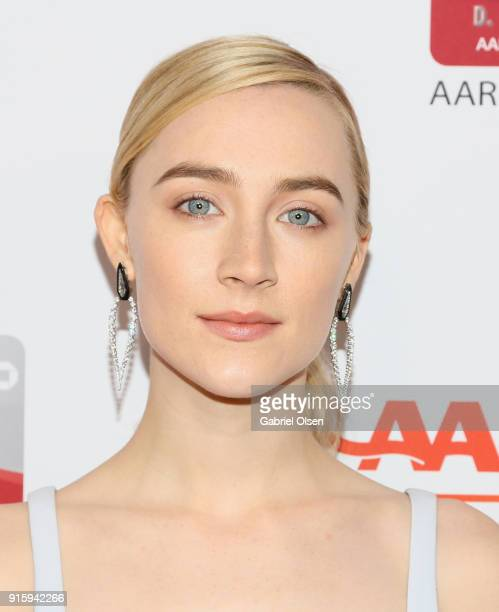Saoirse Ronan attends AARP's 17th Annual Movies For Grownups Awards at the Beverly Wilshire Four Seasons Hotel on February 5 2018 in Beverly Hills...