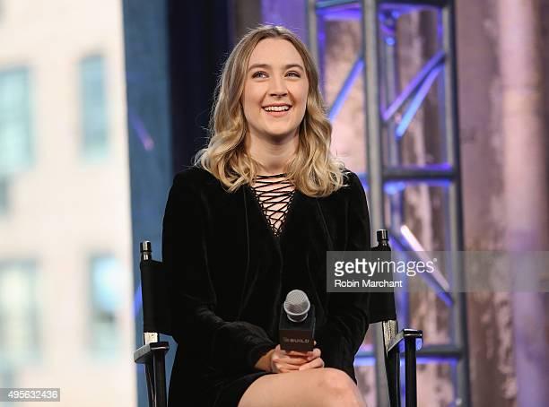 Saoirse Ronan attends AOL BUILD Presents Saoirse Ronan Brooklyn at AOL Studios In New York on November 4 2015 in New York City