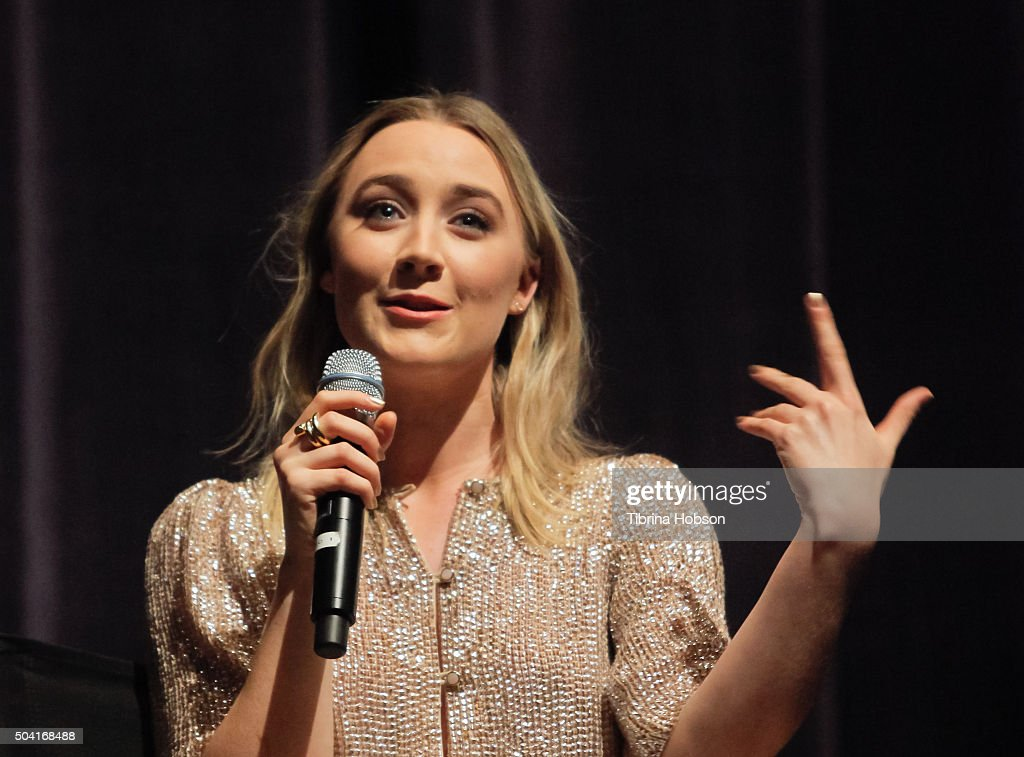 Saoirse Ronan attends SAG-AFTRA Foundation conversations with Saoirse Ronan of 'Brooklyn' at Zanuck Theater at 20th Century Fox Lot on January 8, 2016 in Los Angeles, California.