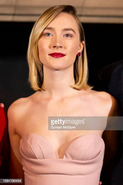 Saoirse Ronan attends Scotland's Premiere of Mary Queen of Scots on January 14 2019 in Edinburgh Scotland