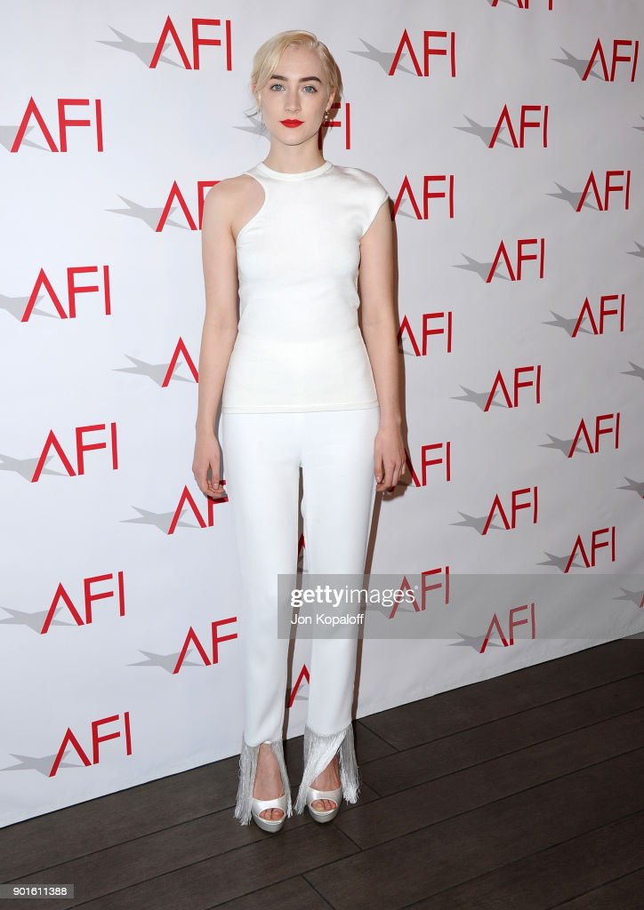 Saoirse Ronan attends the 18th Annual AFI Awards at Four Seasons Hotel Los Angeles at Beverly Hills on January 5, 2018 in Los Angeles, California.