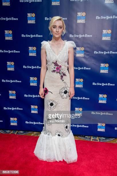 Saoirse Ronan attends the 2017 IFP Gotham Awards at Cipriani Wall Street on November 27 2017 in New York City
