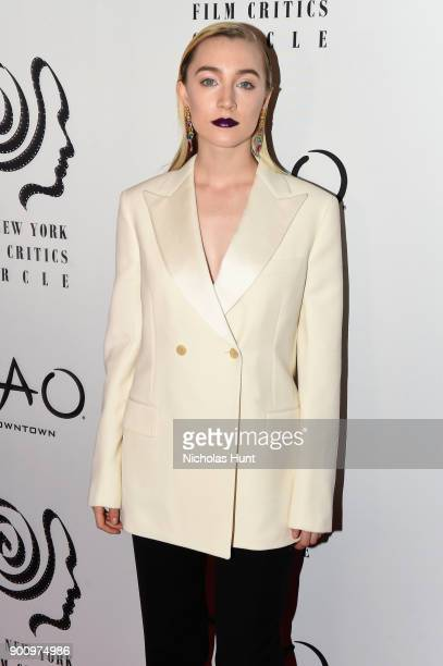 Saoirse Ronan attends the 2017 New York Film Critics Awards at TAO Downtown on January 3 2018 in New York City