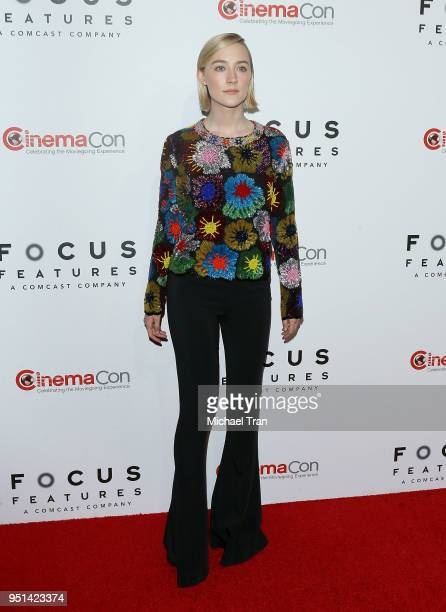 Saoirse Ronan attends the 2018 CinemaCon Focus Features luncheon and special studio presentation held at The Colosseum at Caesars Palace on April 25...