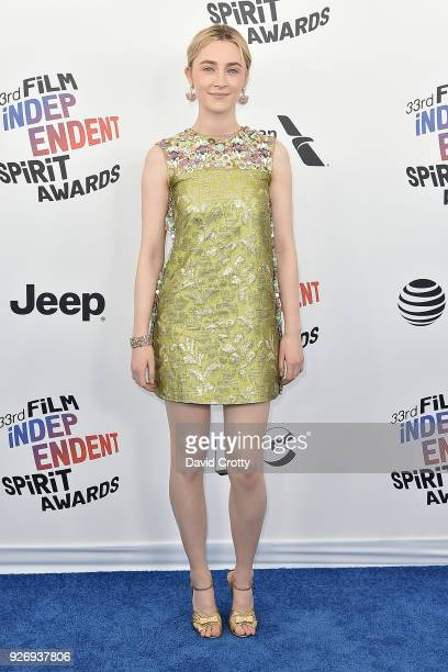 Saoirse Ronan attends the 2018 Film Independent Spirit Awards Arrivals on March 3 2018 in Santa Monica California