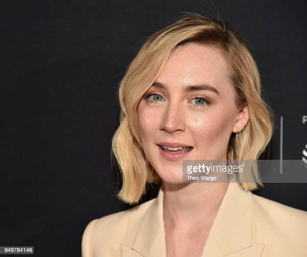 Saoirse Ronan attends the 2018 Tribeca Film Festival AfterParty For The Seagull Hosted By Bulleit at The Mailroom on April 21 2018 in New York City