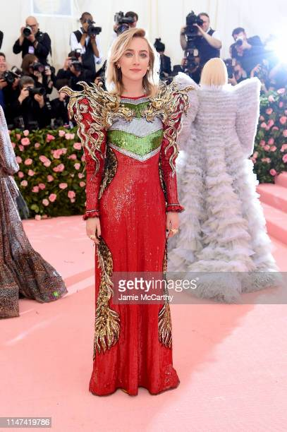 Saoirse Ronan attends The 2019 Met Gala Celebrating Camp Notes on Fashion at Metropolitan Museum of Art on May 06 2019 in New York City