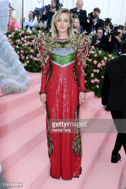 Saoirse Ronan attends The 2019 Met Gala Celebrating Camp Notes On Fashion at The Metropolitan Museum of Art on May 06 2019 in New York City