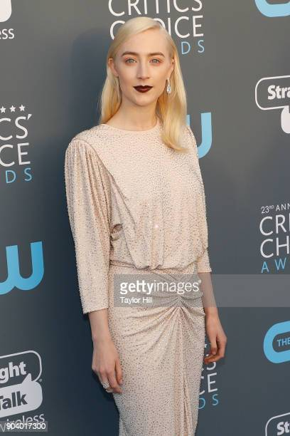 Saoirse Ronan attends the 23rd Annual Critics' Choice Awards at Barker Hangar on January 11 2018 in Santa Monica California