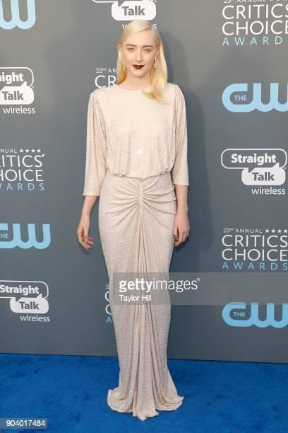Saoirse Ronan attends the 23rd Annual Critics' Choice Awards at Barker Hangar on January 11 2018 in Santa Monica California