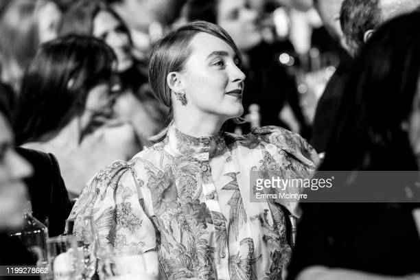 Saoirse Ronan attends the 25th annual Critics' Choice Awards Inside at Barker Hangar on January 12 2020 in Santa Monica California