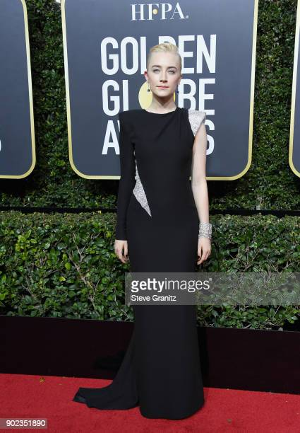 Saoirse Ronan attends The 75th Annual Golden Globe Awards at The Beverly Hilton Hotel on January 7 2018 in Beverly Hills California