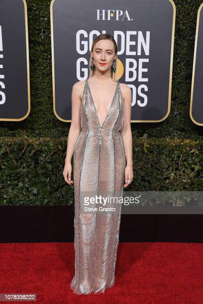 Saoirse Ronan attends the 76th Annual Golden Globe Awards at The Beverly Hilton Hotel on January 6 2019 in Beverly Hills California