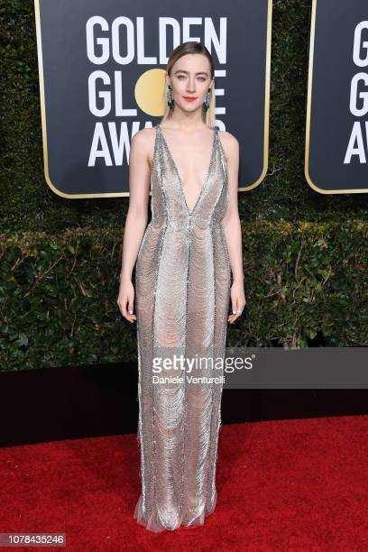 Saoirse Ronan attends the 76th Annual Golden Globe Awards at The Beverly Hilton Hotel on January 6, 2019 in Beverly Hills, California.