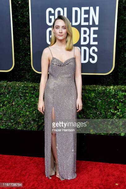 Saoirse Ronan attends the 77th Annual Golden Globe Awards at The Beverly Hilton Hotel on January 05, 2020 in Beverly Hills, California.