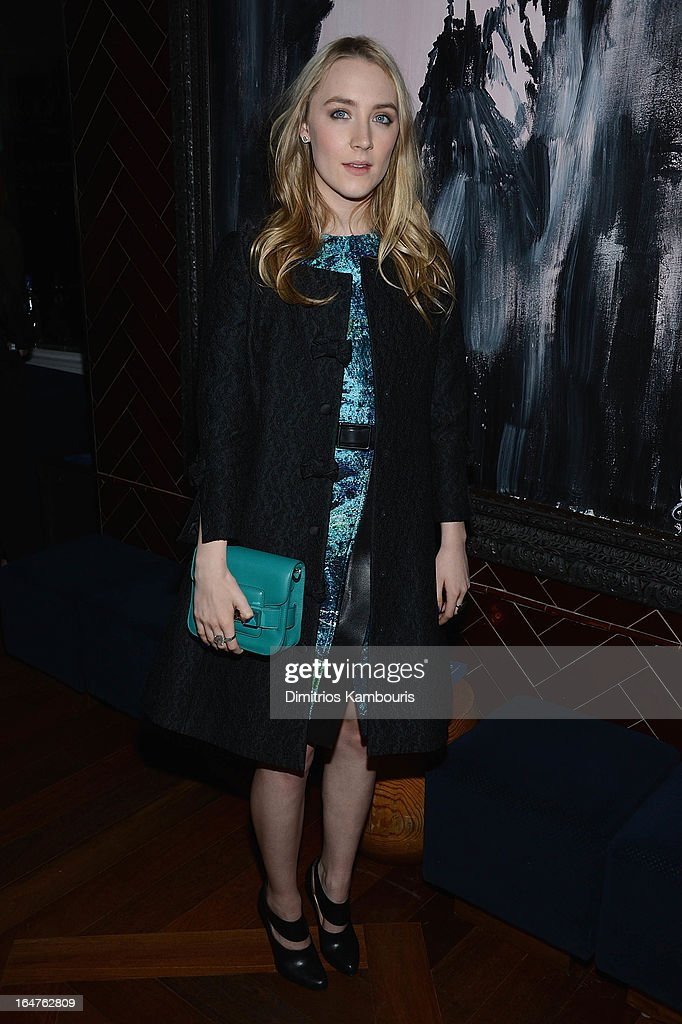 Saoirse Ronan attends the after party for The Cinema Society & Jaeger-LeCoultre screening of Open Road Films' 'The Host' at Jimmy At The James Hotel on March 27, 2013 in New York City.