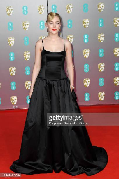 Saoirse Ronan attends the EE British Academy Film Awards 2020 at Royal Albert Hall on February 02 2020 in London England