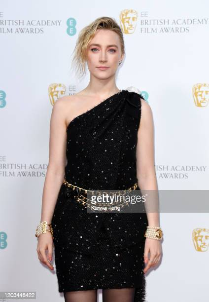 Saoirse Ronan attends the EE British Academy Film Awards 2020 Nominees' Party at Kensington Palace on February 01 2020 in London England