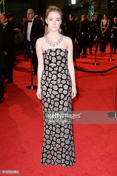 Saoirse Ronan attends the EE British Academy Film Awards at The Royal Opera House on February 14 2016 in London England