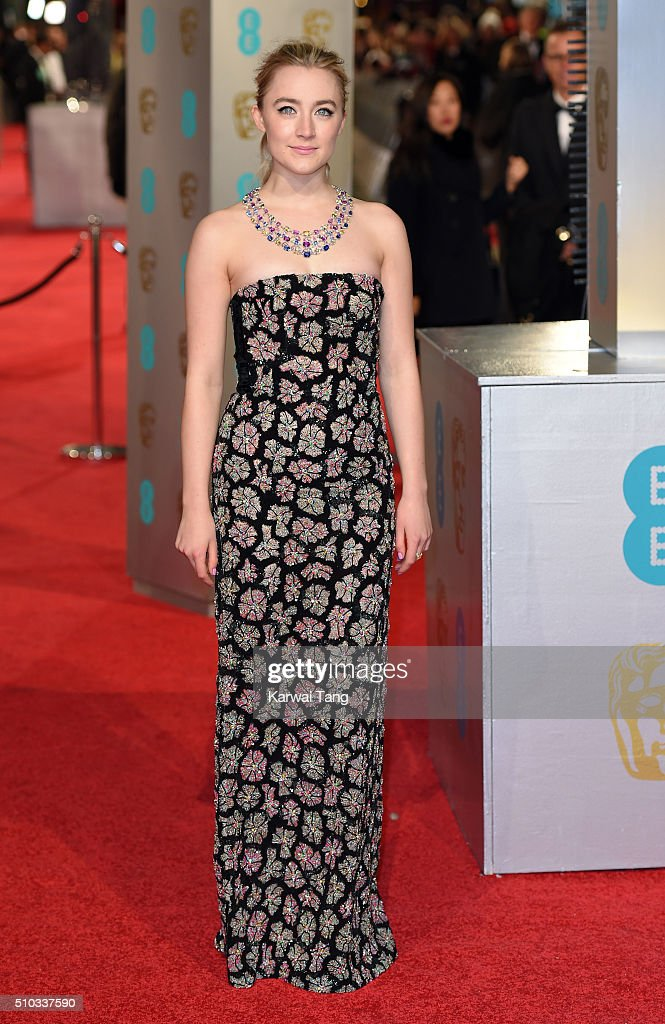 Saoirse Ronan attends the EE British Academy Film Awards at The Royal Opera House on February 14, 2016 in London, England.