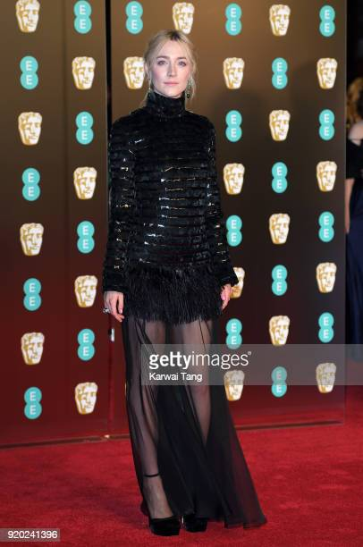 Saoirse Ronan attends the EE British Academy Film Awards held at the Royal Albert Hall on February 18 2018 in London England