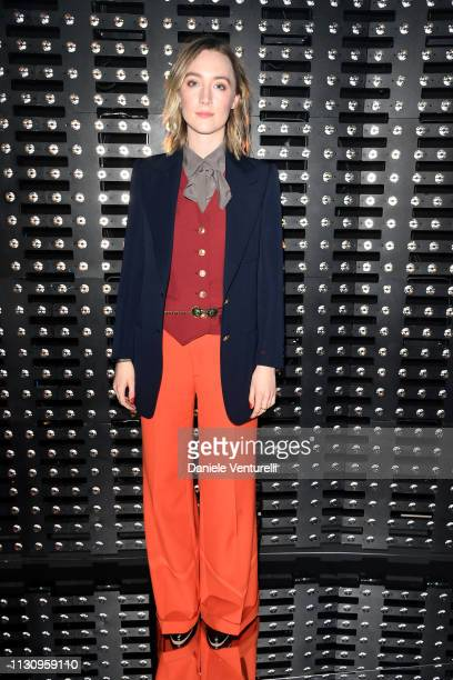 Saoirse Ronan attends the Gucci show during Milan Fashion Week Autumn/Winter 2019/20 on February 20 2019 in Milan Italy