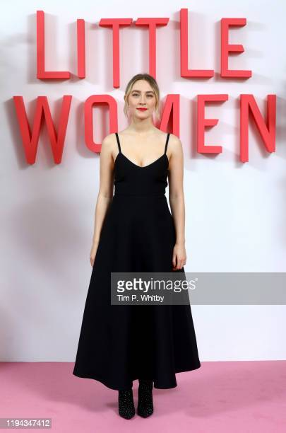 Saoirse Ronan attends the Little Women London evening photocall at the Soho Hotel on December 16, 2019 in London, England. Little Women releases in...