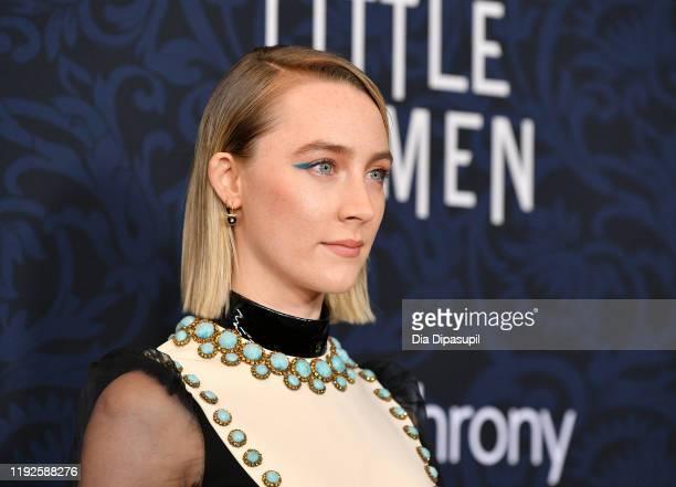 "Saoirse Ronan attends the ""Little Women"" World Premiere at Museum of Modern Art on December 07, 2019 in New York City."
