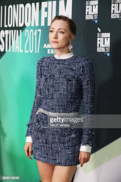 Saoirse Ronan attends the Love Gala European Premiere of 'On Chesil Beach' during the 61st BFI London Film Festival on October 8 2017 in London...