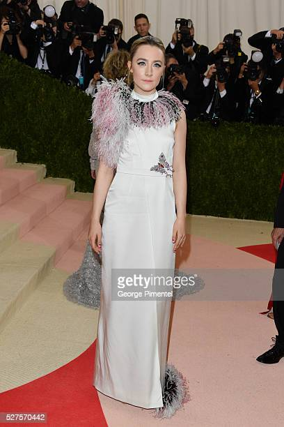 Saoirse Ronan attends the 'Manus x Machina: Fashion in an Age of Technology' Costume Institute Gala at the Metropolitan Museum of Art on May 2, 2016...