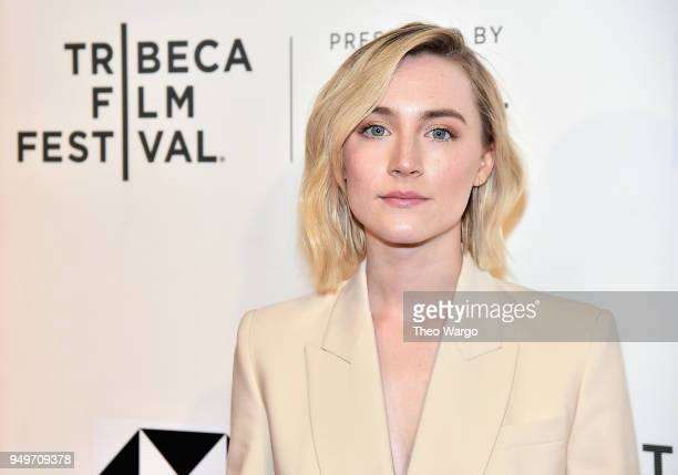 Saoirse Ronan attends The Seagull premiere during the 2018 Tribeca Film Festival at BMCC Tribeca PAC on April 21 2018 in New York City