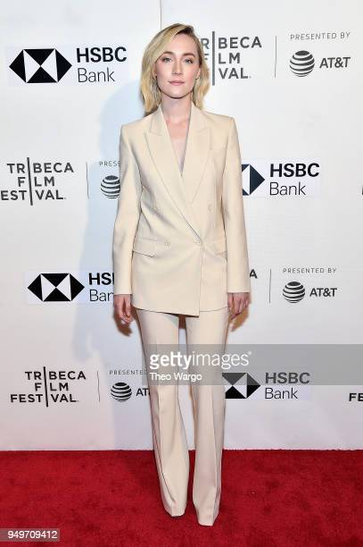 Saoirse Ronan attends 'The Seagull' premiere during the 2018 Tribeca Film Festival at BMCC Tribeca PAC on April 21 2018 in New York City