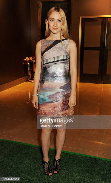 Saoirse Ronan attends the UK Premiere of Justin and the Knights of Valour at The May Fair Hotel on September 8 2013 in London England