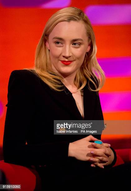 Saoirse Ronan during filming of the Graham Norton Show at The London Studios to be aired on BBC One on Friday