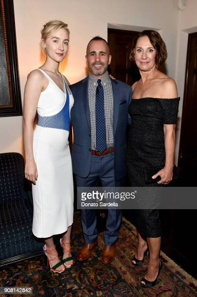 Saoirse Ronan Editor in Chief at Entertainment Weekly Henry Goldblatt and Laurie Metcalf attend Entertainment Weekly's Screen Actors Guild Award...