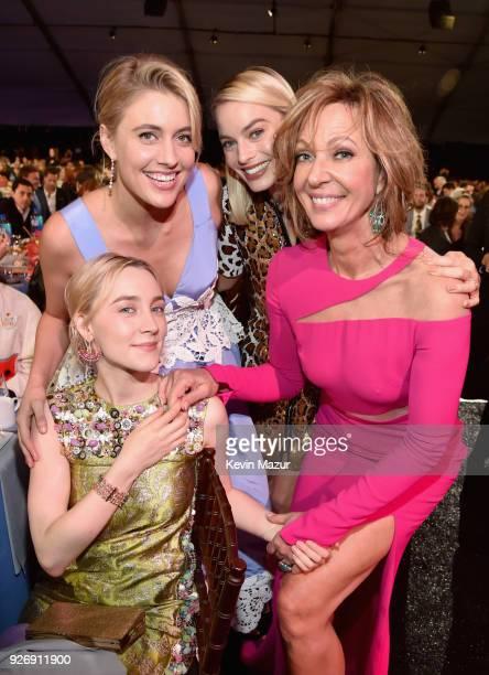 Saoirse Ronan Greta Gerwig Margot Robbie and Allison Janney attend the 2018 Film Independent Spirit Awards on March 3 2018 in Santa Monica California