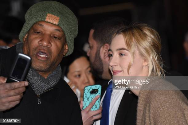 Saoirse Ronan is seen on February 23 2018 in Los Angeles California