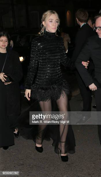 Saoirse Ronan seen at BAFTAs official afterparty after attending the EE British Academy Film Awards at the Royal Albert Hall on February 18 2018 in...