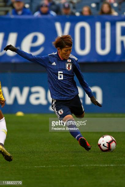 Saori Ariyoshi of Japan plays during the 2019 SheBelieves Cup match between Brazil and Japan at Nissan Stadium on March 2 2019 in Nashville Tennessee