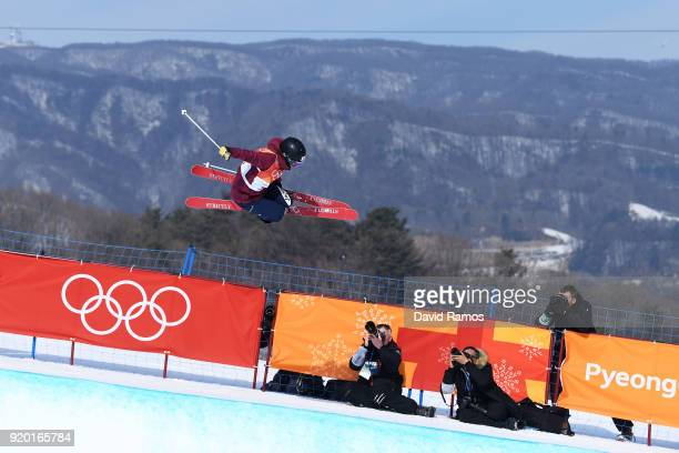 Saori Suzuki of Japan competes during the Freestyle Skiing Ladies' Ski Halfpipe Qualification on day 10 of the PyeongChang 2018 Winter Olympic Games...