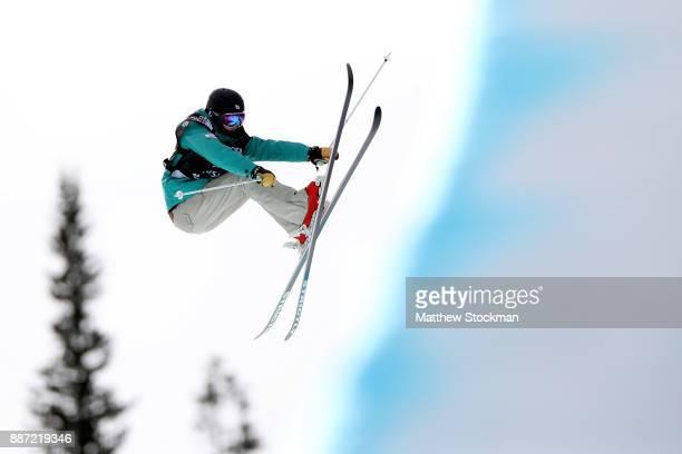 Saori Suzuki of Japan competes in a qualifying round of the FIS Freeski World Cup 2018 Ladies Ski Halfpipe during the Toyota US Grand Prix on...