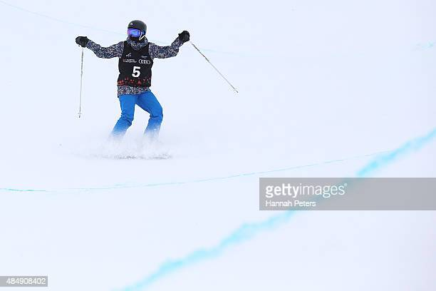 Saori Suzuki of Japan competes in the FIS Freestyle Ski World Cup Halfpipe Finals during the Winter Games NZ at Cardrona Alpine Resort on August 23...