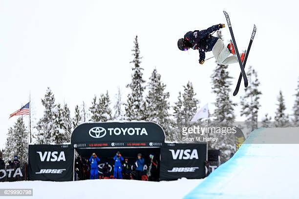 Saori Suzuki of Japan competes in the qualifying round of the FIS Freestyle Ski World Cup 2017 Ladies' Ski Halfpipe during The Toyota US Grand Prix...