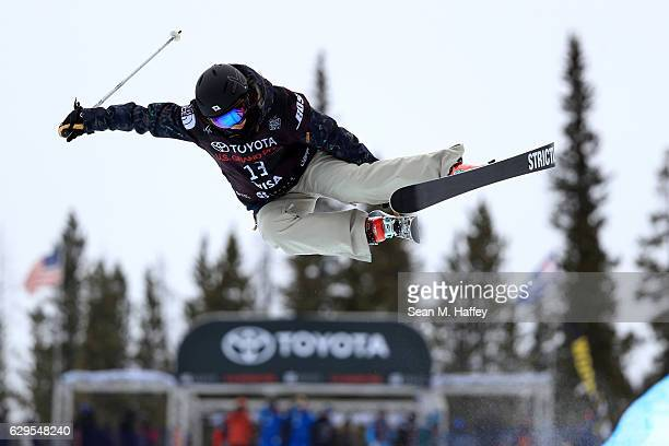 Saori Suzuki of Japan takes a practice run in the halfpipe during the 2017 US Freeskiing Grand Prix at Copper Mountain on December 13 2016 in Copper...