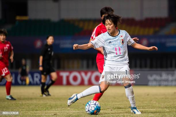 Saori Takarada of Japan in action during their AFC U19 Women'u2019s Championship 2017 Final match between North Korea and Japan at Jiangning Sports...
