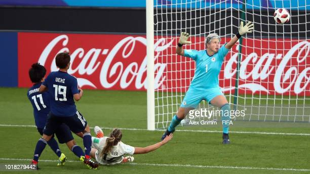 Tanja Pawollek of Germany during the FIFA U20 Women's World Cup France 2018 Quarter Final quarter final match between Germany and Japan at Stade de...