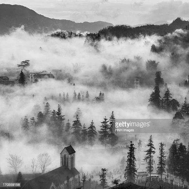 Sapa town in cloud-North VietNam
