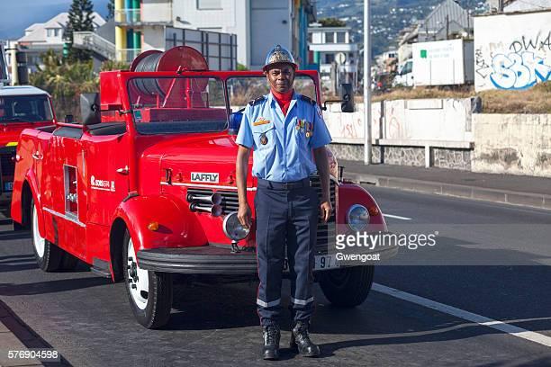 Sapeur Pompier during Bastille Day