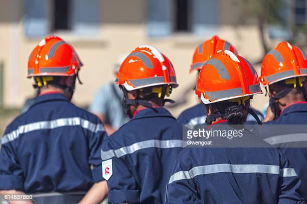 Sapeurs Pompiers during Bastille Day